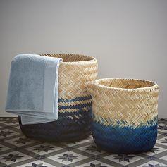 Panier tie and die bleu #panier #zodio #maritime #tendance #décoration