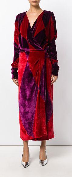 ATTICO wrap long dress, explore Attico on Farfetch now.