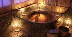 Romantic bathroom.