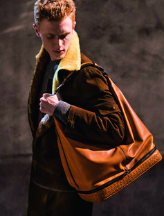 ORANGE BUTTER CALF MI-NY BAG #BOTTEGAVENETAFW18