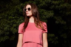 A perfect partnership of pink, rose-gold and nude in new BOSS Womenswear and sunglasses