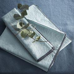 Serviette de table écume coton/lin lavé #zodio #tendance #lin #serviette #décoration