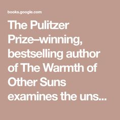 "The Pulitzer Prize–winning, bestselling author of The Warmth of Other Suns examines the unspoken caste system that has shaped America and shows how our lives today are still defined by a hierarchy of human divisions. ""[Caste] should be at the top of every American's reading list.""—Chicago Tribune""As we go about our daily lives, caste is the wordless usher in a darkened theater, flashlight cast down in the aisles, guiding us to our assigned seats for a performance. The hierarchy of caste is not"