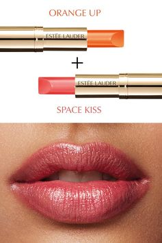 Build your perfect lip look with Pure Color Love in Orange Up and Space Kiss.