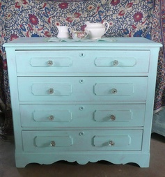 Beach Cottage Chest of Drawers Vintage by poppycottage on Etsy, $450.00