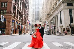 Red Vera Wang #wedding #dress in this beautiful #Chicago wedding at W Chicago City Center. Photography by Leah Moyers Photography. (scheduled via http://www.tailwindapp.com?utm_source=pinterest&utm_medium=twpin&utm_content=post28646488&utm_campaign=scheduler_attribution)
