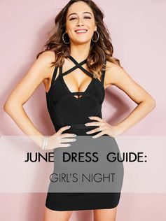 The June Dress Guide: What to wear for a night out with your besties! #LoveGUESS