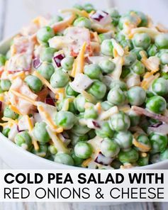 Pea Salad Recipe with Red Onions and Cheese {Video}