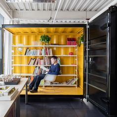 Modern shipping container office. #ShippingContainerOffice