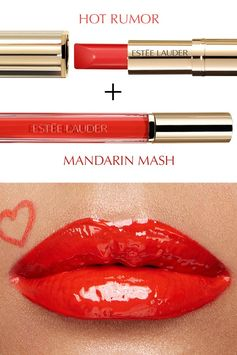 Paint on bold color with Pure Color Love in Hot Rumor and Mandarin Mash.