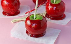 These fun candy apples can be made in any color you have in Jolly Ranchers. Make them with the kids or give as gifts!