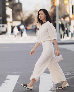 Tods style for Fala Chen wearing the Tod's Diodon Bag and Tod's moccasin.  #TodsDiodonBag #Tods