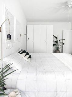 style minimaliste chambre blanche