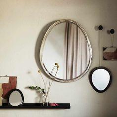 Miroir ovoïde en plaqué argent Tine K Home
