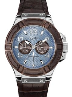 Blue, Brown and Silver-Tone Rigor Standout Sport Watch