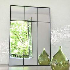 Miroir atelier verrière XXL en métal noir decoclico Factory