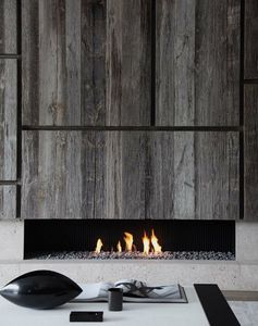 A modern fireplace - great textures
