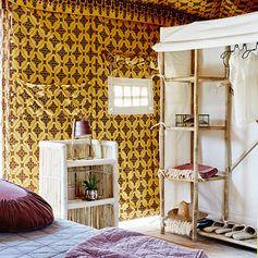Penderie / dressing en bambou et coton écru Madam Stoltz