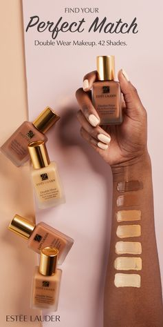 Cool, Warm, or Neutral? Count on Double Wear Stay-In-Place Makeup to always be your perfect match with 42 shades for all skin tones. This lightweight, oil-free foundation has 24-hour staying power for a flawless finish that will last all day. Get your FREE 10-day supply by visiting any Estée Lauder counter.