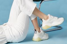 It's a white out. Team bright white jeans with all-white #EclypseSneaker for a modern off-duty look.