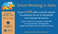 #Smartworking: 6 aziende italiane su 10 già adottano forme di flessibilità contrattuale del #lavoro. Anticipazione IDC per #AssintelReport18