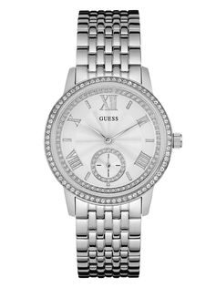 Silver-Tone Feminine Classic Dress Watch