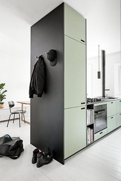 Great idea for a kitchen needing a supporting post #kitcheninterior