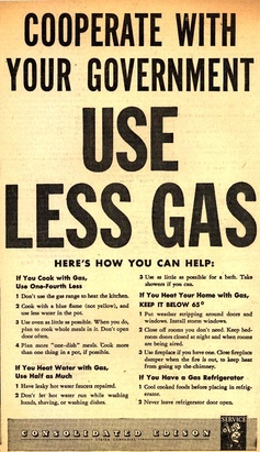 Co-operate With Your Government - Use Less Gasoline - Buy Electric - WW2 Poster