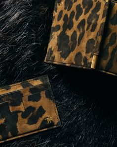 Bold leopard print card holder and wallets for him. #TOMFORD #TFGIFTS