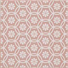Décor Astuce rosace rose blush n°5, l.20 x L.20 cm