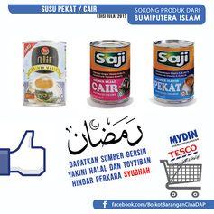 SOKONG 1.Saji Susu Pekat/Cair (Felda) 2.Alif Susu Pekat /Cair (Sime Darby)