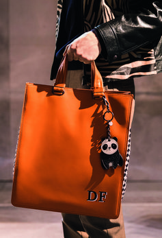 ORANGE INTRECCIATO CHECKER TOTE #BOTTEGAVENETAFW18