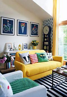Un décor d'intérieur à l'inspiration éclectique et aux couleurs multiples