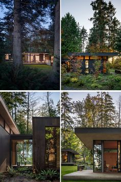 A Series Of Modern Cabins Make Up The Hood Cliff Retreat In Washington