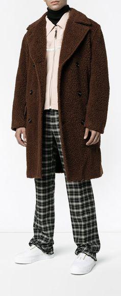 Marni Teddy bear double-breasted coat, explore new season coats on Farfetch now.