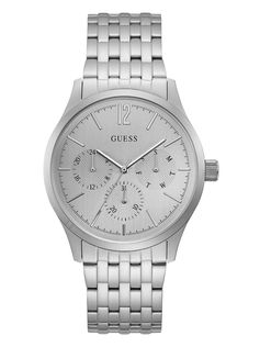 Brushed Silver-Tone Dress Watch