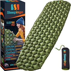 Sleepingo Camping Sleeping Pad - Mat, (Large), Ultralight 14.5 OZ, Best Sleeping Pads for Backpacking, Hiking Air Mat...