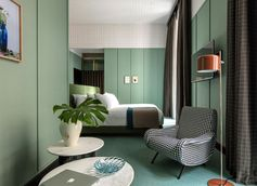 Vintage Feel with Cassina Furnishings at Room Mate Hotel in Milan