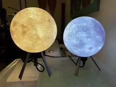Designer Lithophane Moon Lamp by Frank Deschner #prusai3 #practical #prototyping