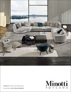 Alexander seating system, Rodolfo Dordoni Design  #adv #alexander #sofa #seatingsystem #rodolfodordoni