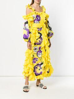 Yuliya Magdych embroidred ruffle dress