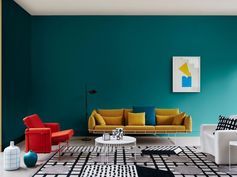 deco-bleu-canard-jaune-salon-moderne