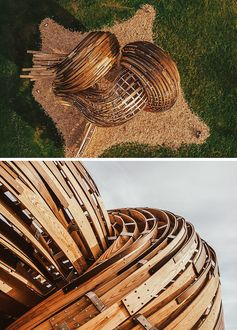 A New Sculptural Wood Pavilion Stands Proud In Estonia