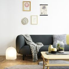 Canapé en tissu Gabriel gris L 204 pieds bois Moïra Eno Studio