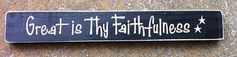 Primitive Country Engraved Great is Thy by NannieandBCrafts, $6.50