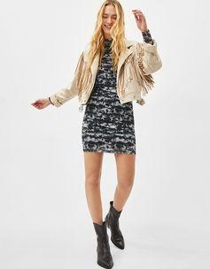 High neck tie-dye dress | Bershka  #newin #trend #trendy #cool #fashion #outfit #ideas #inspiration #look #woman #mujer #new #in #bershka #bershkacollection #moda #tiedye #desteñido #tendencia #trend