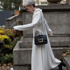 Lyn Slater wears the Bally Janelle Bag.