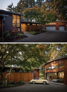 An Exterior Palette Of Wood And Steel Siding For A Modern House