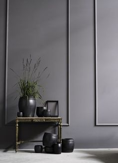 Image result for grey panelled walls