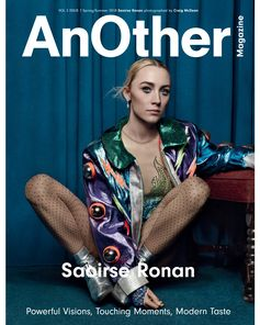 On the cover of Another Magazine Spring/Summer 2018, Saoirse Ronan in a look from Gucci Spring Summer 2018 worn with a bomber from Elton John's Archives. The issue includes an interview with Gucci Creative Director Alessandro Michele by Susannah Frankel.  Photographer: Craig McDean Stylist: Katie Shillingford